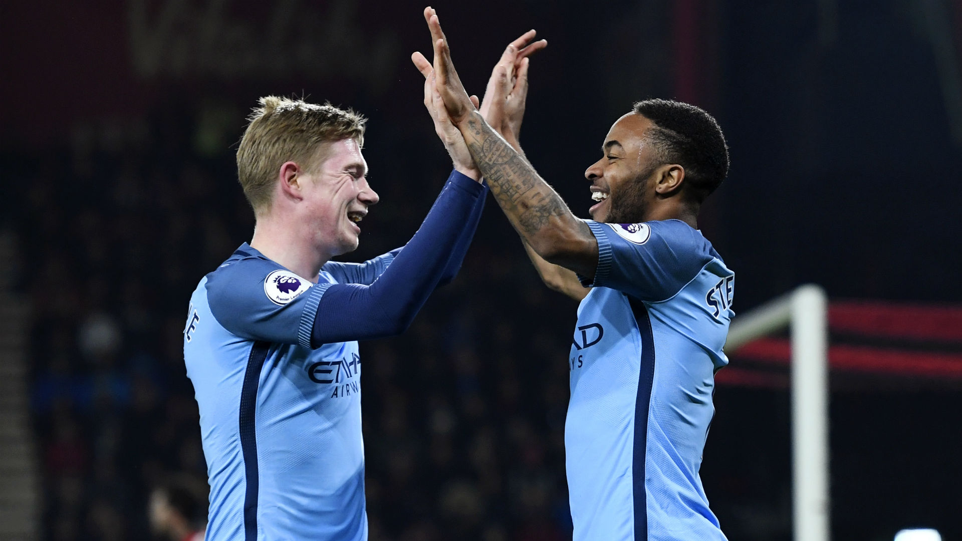 Bournemouth Manchester City Sterling De Bruyne