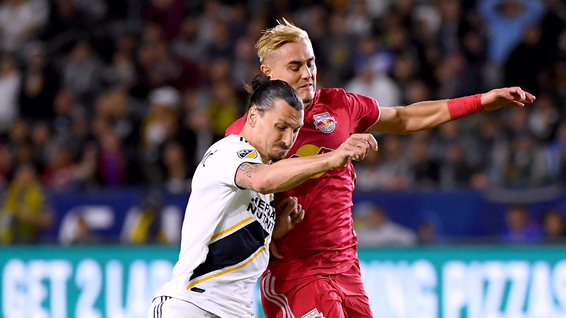 Aaron Long Zlatan Ibrahimovic LA Galaxy NY Red Bulls 2018