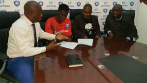 AFC Leopards defender Robinson Kamura and Oscar Igaida and Dan Mulee.