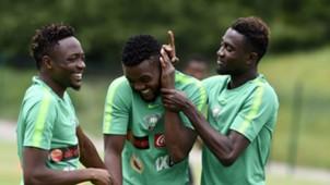 Nigeria training - Ahmed Musa, Chidozie Awaziem, Wilfred Ndidi