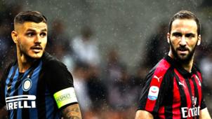 Mauro Icardi Gonzalo Higuain Inter Milan