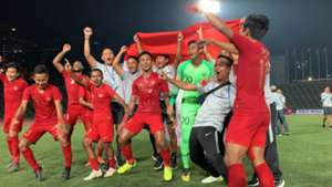 Selebrasi Indonesia Juara Piala AFF U-22