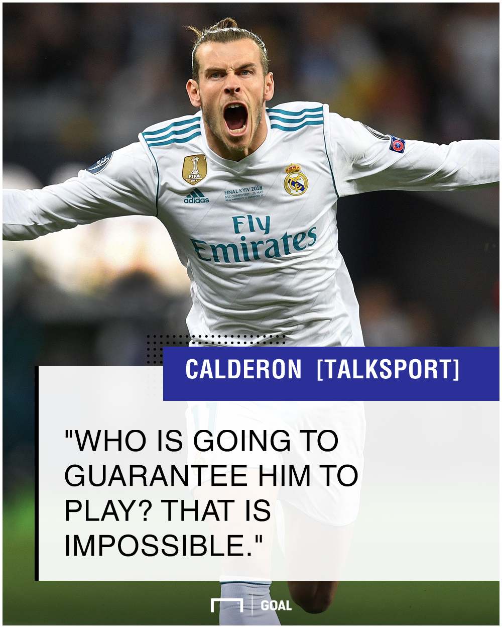 Gareth Bale Real Madrid can't guarantee games Ramon Calderon