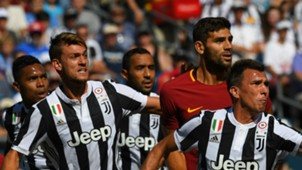 Rugani Mandzukic Fazio Roma Juventus