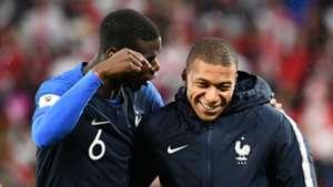 Paul Pogba Kylian Mbappe France World Cup 2018