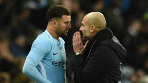 Kyle Walker Pep Guardiola Manchester City