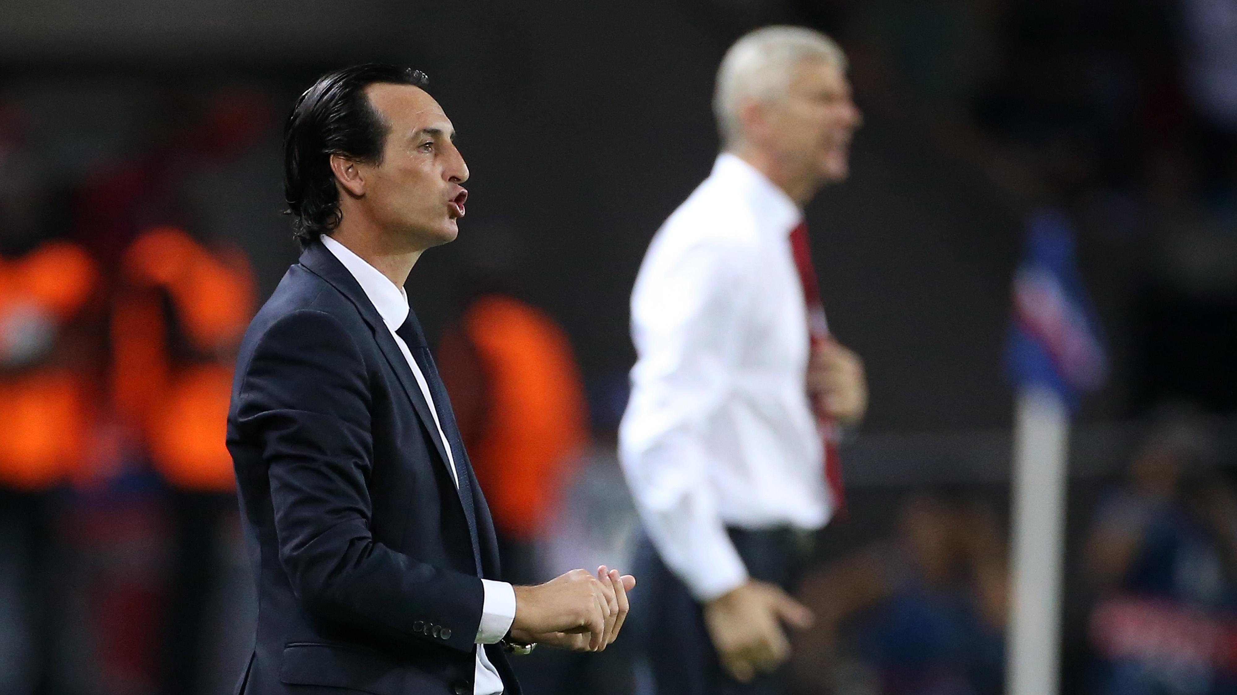 Unai Emery PSG Arsene Wenger Arsenal