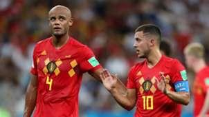Vincent Kompany Eden Hazard Belgium 2018