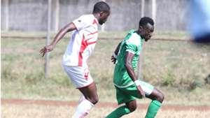 Gor Mahia striker Francis Mustapha v Kakamega Homeboyz.