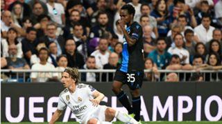 Percy Tau and Luka Modric - Real Madrid vs Club Brugge October 2019