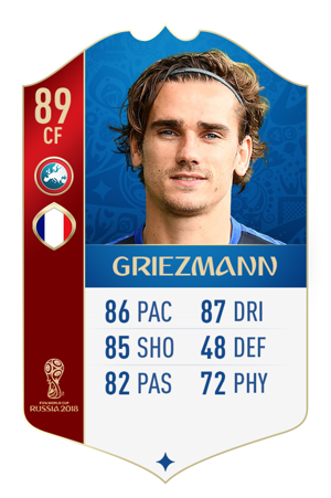 FIFA 18 World Cup France Ratings Griezmann