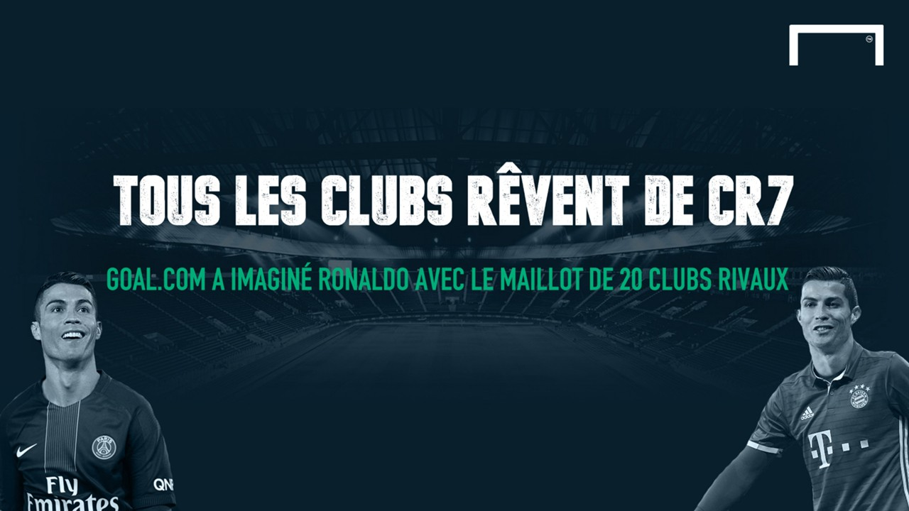 Cristiano Ronaldo et les maillots des clubs rivaux (Cover)