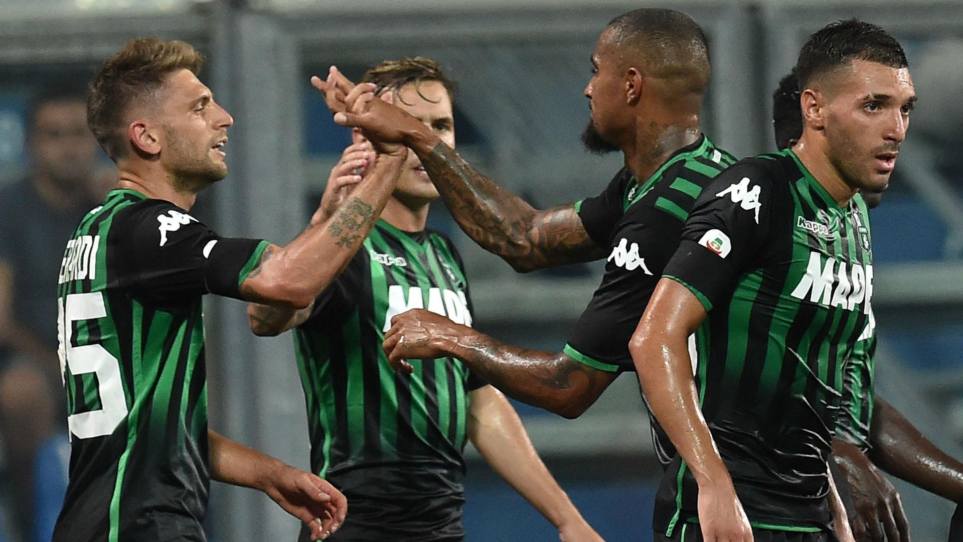 Sassuolo celebrating Inter Serie A