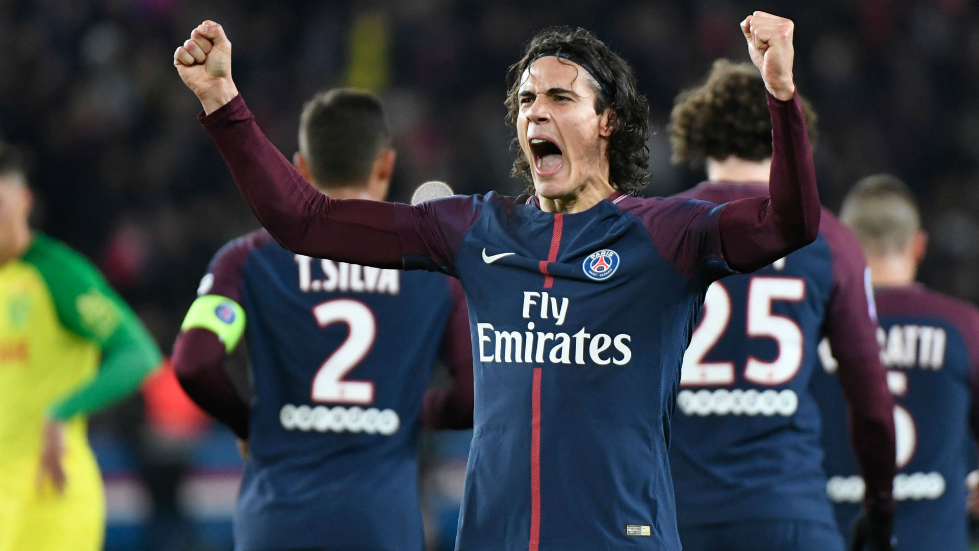 Edinson Cavani scores twice as Paris Saint Germain hammer Nantes