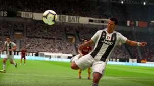 FIFA 19 demo Cristiano Ronaldo screen