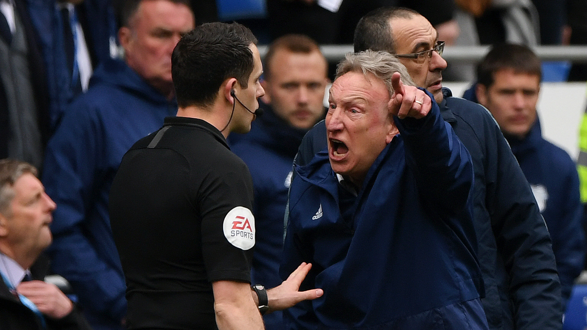Warnock seething as Chelsea come back to beat Cardiff