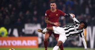 Aleksander Kolarov Juan Cuadrado Juventus Roma Serie A