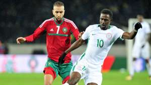 Rabiu Ali Nigeria Zakaria Hadraf Morocco 2018 CHAN