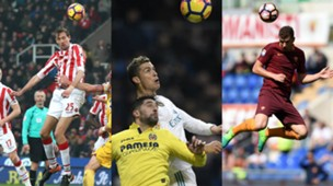Collage Ronaldo Crouch Dzeko
