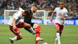 Henrik Dalsgaard Ante Rebic Denmark Croatia 01072018