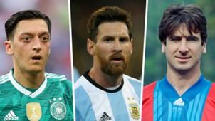Ozil Messi Cantona split
