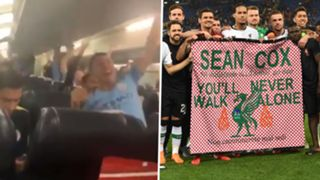 Man City Plane Liverpool Sean Cox Tribute