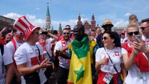 Болельщики Польши и Сенегала