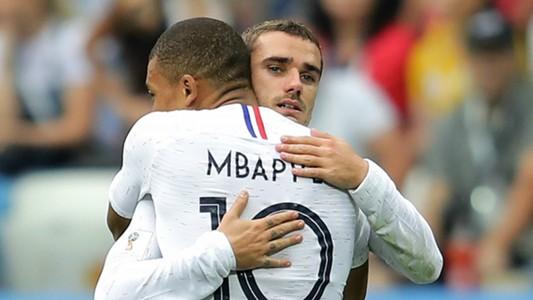 Kylian Mbappe Antoine Griezmann France 2018