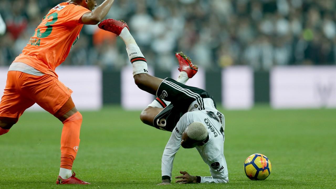 Besiktas' Talisca gets fouled vs Alanyaspor