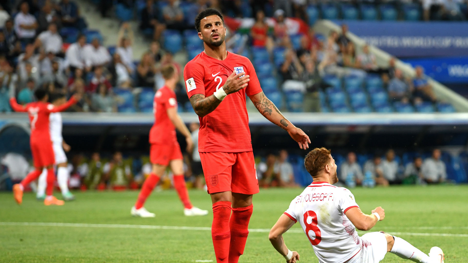 Kyle Walker England Tunisia penalty World Cup 180618