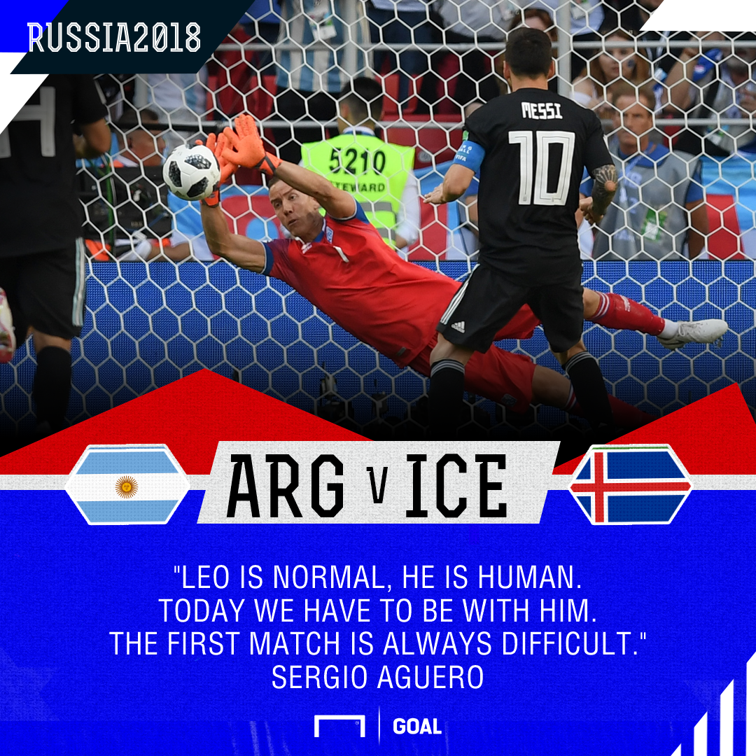Lionel Messi is human Sergio Aguero Argentina Iceland