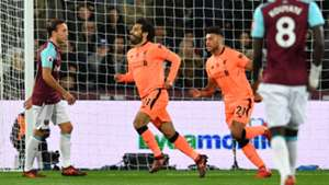 Salah Chamberlain Liverpool v West Ham