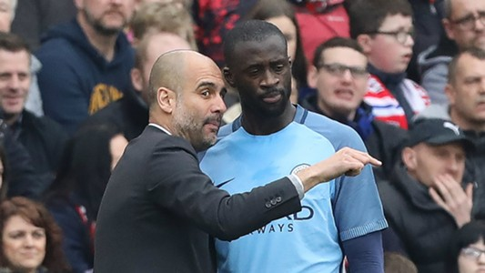 Pep Guardiola Yaya Toure Manchester City
