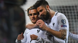 Antoine Griezmann Olivier Giroud Luxembourg France 25032017