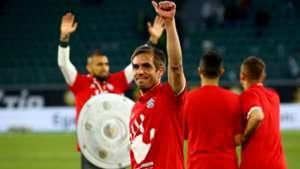 Arturo Vidal Philipp Lahm Bayern champion 290417