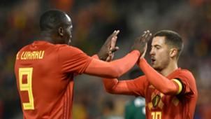 Romelu Lukaku Eden Hazard Belgium Mexico