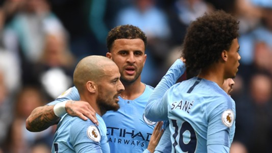 David Silva Kyle Walker Leroy Sane Manchester City 15092018