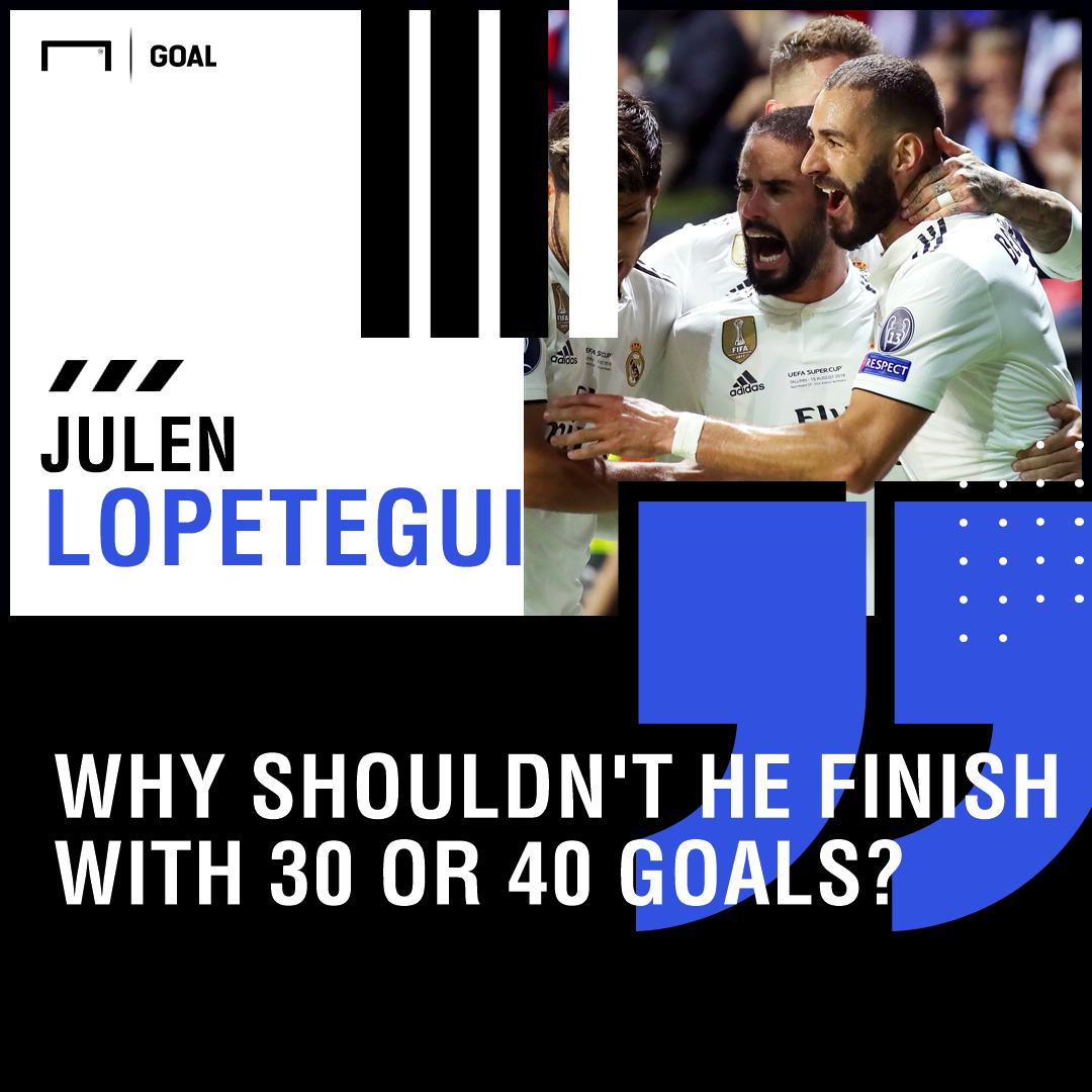 Julen Lopetegui Karim Benzema 40 goals