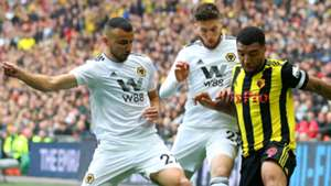 Troy Deeney Watford Romain Saiss Matt Doherty Wolves FA Cup