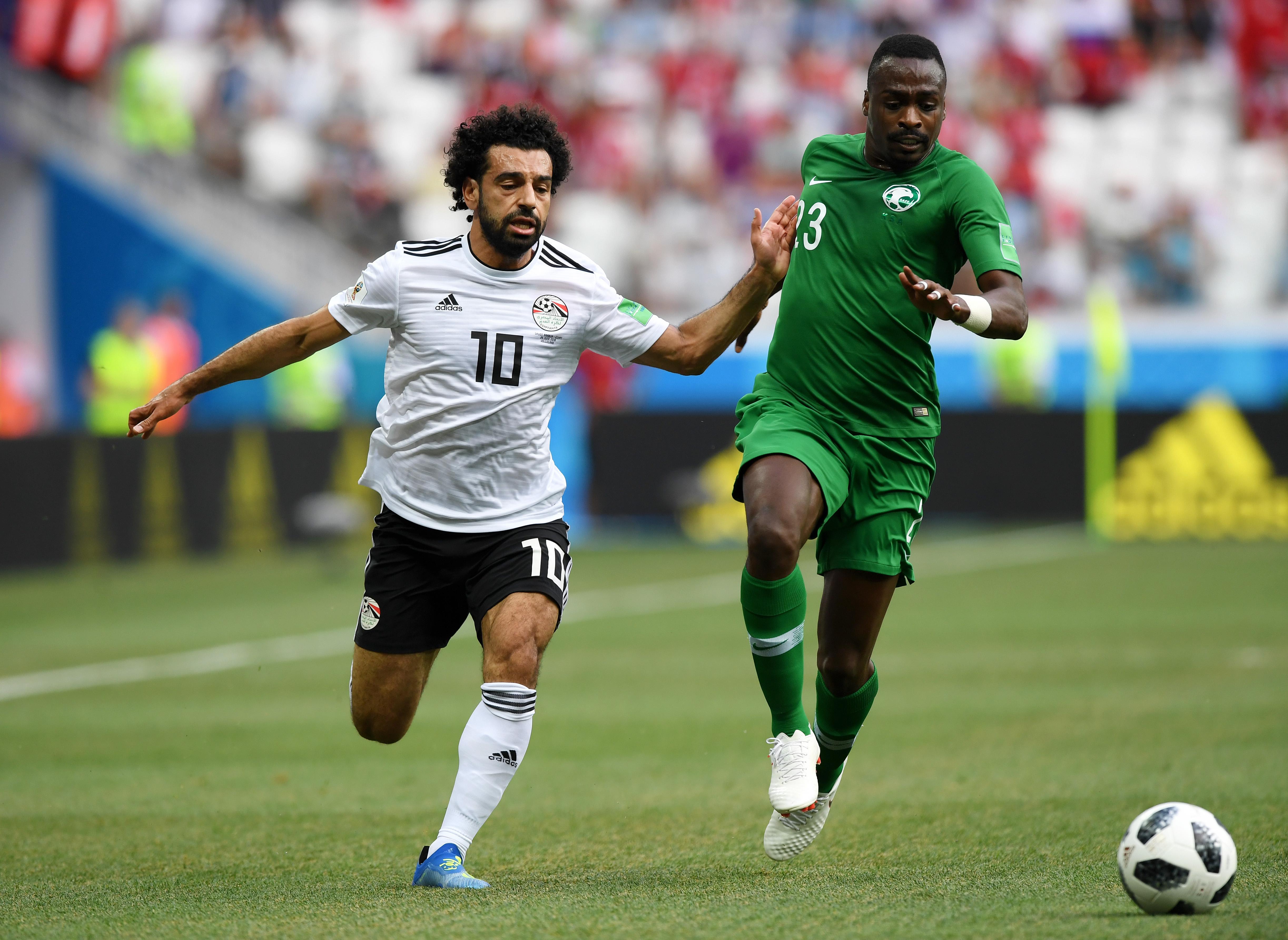 Mo Salah,  Motaz Hawsawi Saudi Arabia vs Egypt