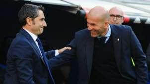 Ernesto Valverde Barcelona Zinedine Zidane Real Madrid