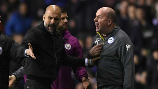 Pep Guardiola Paul Cook Manchester City Wigan Athletic