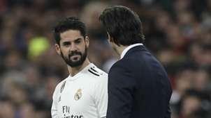 Isco Santiago Solari Real Madrid 2018-19