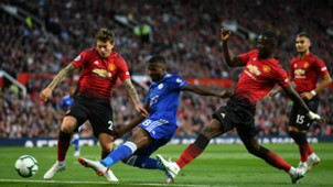 Victor Lindelof Eric Bailly Manchester United Kelechi Iheanacho Leicester City