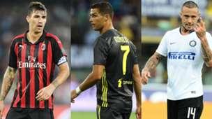Collage Romagnoli Ronaldo Nainggolan