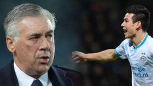 GFX Carlo Ancelotti Hirving Lozano