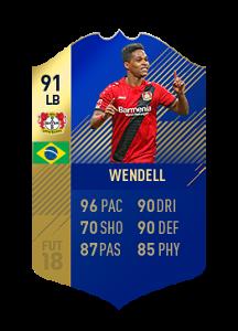 FIFA 18 Bundesliga Team of the Season Wendell
