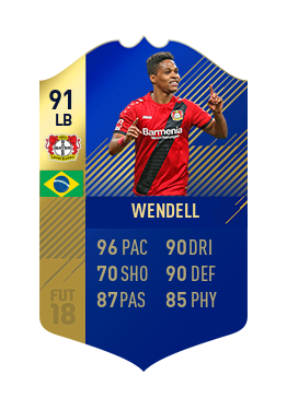 FIFA 18 Bundesliga Team of the Season Wendell