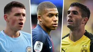 Phil Foden Kylian Mbappe Christian Pulisic