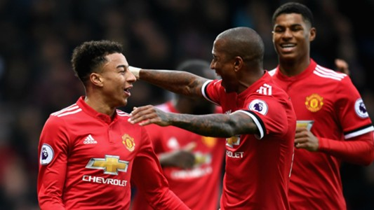 Jesse Lingard Ashley Young Manchester United West Brom